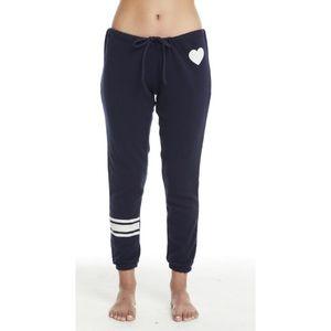 Chaser navy blue Love sweatpants medium